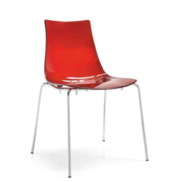 Chaise design en métal et plexi - Led 5 - 5