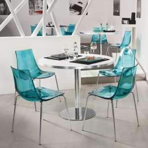 Chaise design en métal et plexi - Led