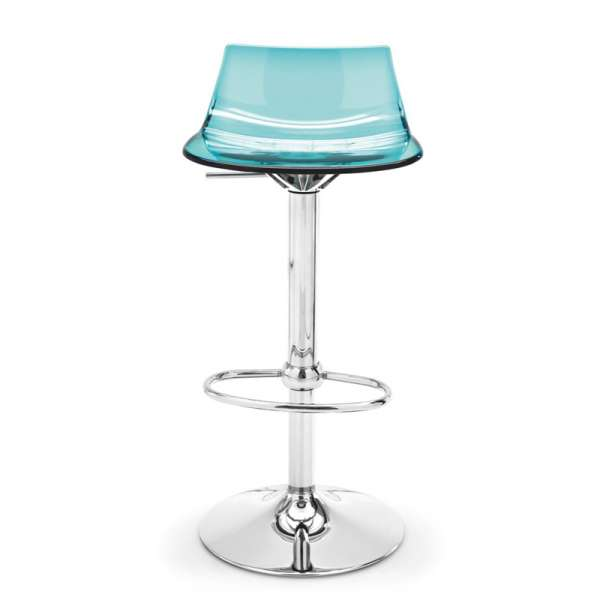 Tabouret réglable design en plexi - Led 2 - 2