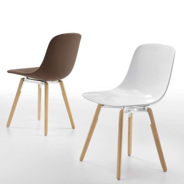 Chaise design en polypropylène - Pieds bois Pure Loop Wooden Infiniti®