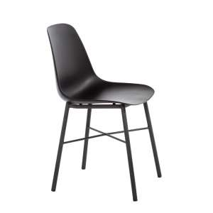 Chaise moderne en polypropylène et métal noir - Cloe