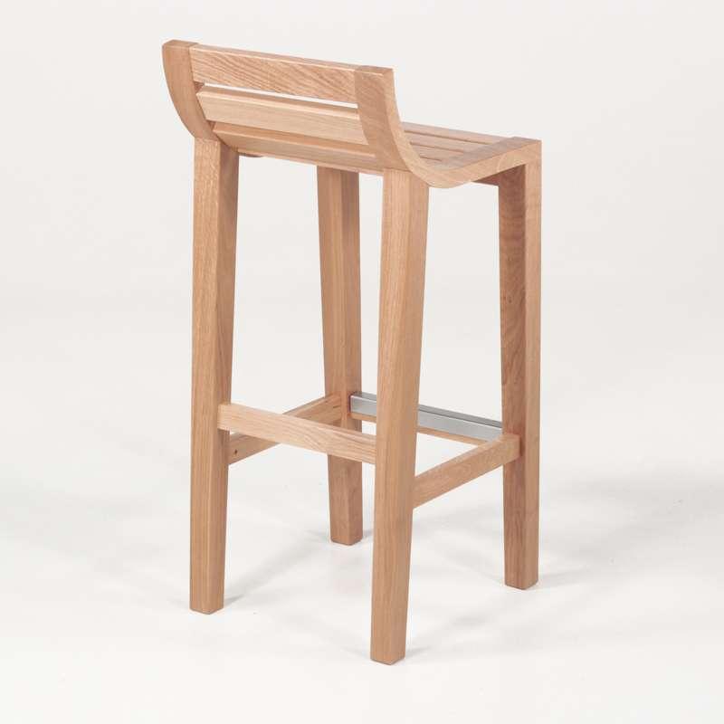 chaise de bar en bois massif
