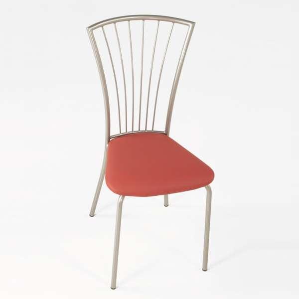 Chaise de cuisine en vinyl et métal - Jana 7 - 9