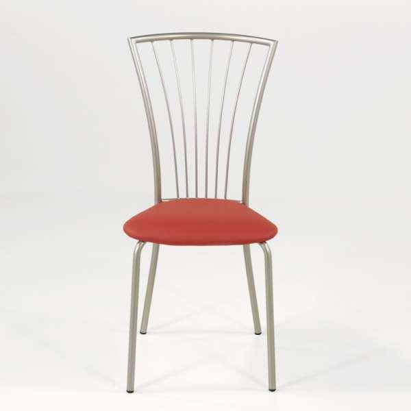 Chaise de cuisine en vinyl et métal - Jana 8 - 10