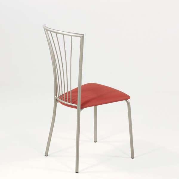 Chaise de cuisine en vinyl et métal - Jana 9 - 11