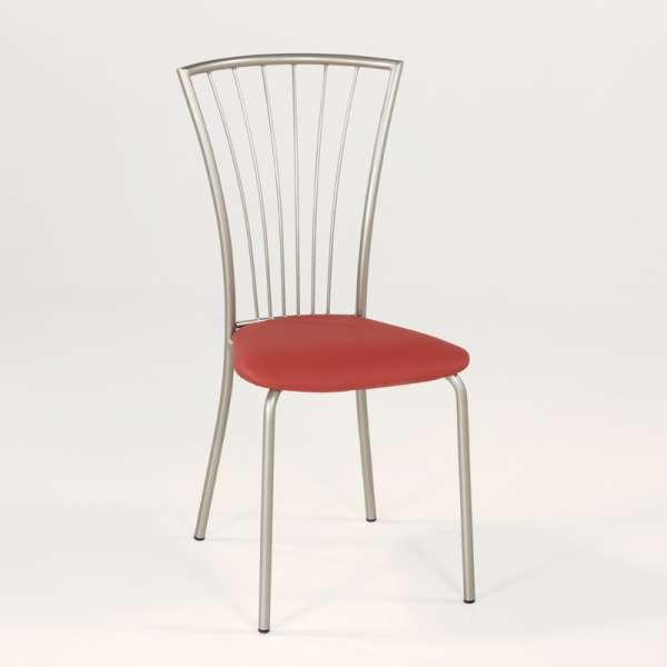 Chaise de cuisine en vinyl et métal - Jana 6 - 8