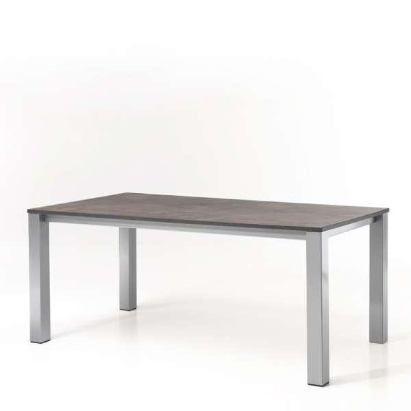 Table de cuisine rectangulaire en mélaminé et métal - Costa - 1