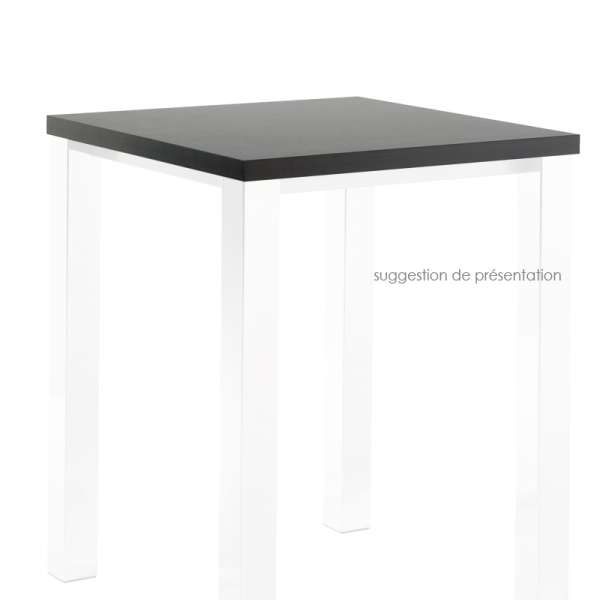 Plateau de table carré ou rectangle en stratifié - Quadra - 1
