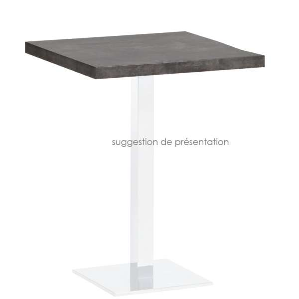 Plateau de table carré ou rectangle en stratifié - Quadra 2 - 2