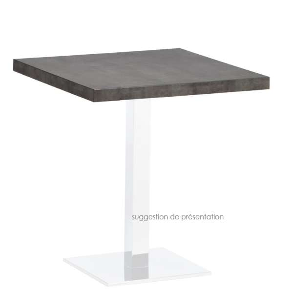 Plateau de table carré ou rectangle en stratifié - Quadra 3 - 3