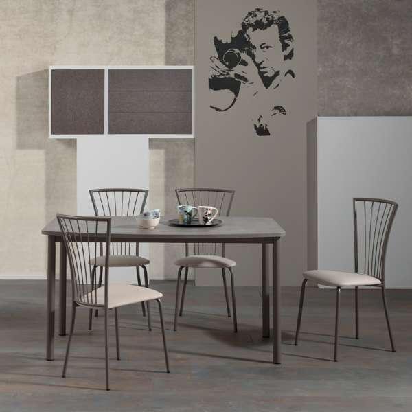 Chaise de cuisine en vinyl et métal - Jana 2 - 4