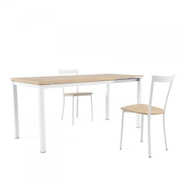 Table de cuisine extensible en mélaminé - hauteur 75 cm - Toy métal - 2 - 2