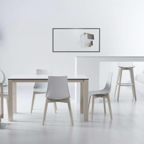 Table en céramique extensible blanche Quadra  - 14
