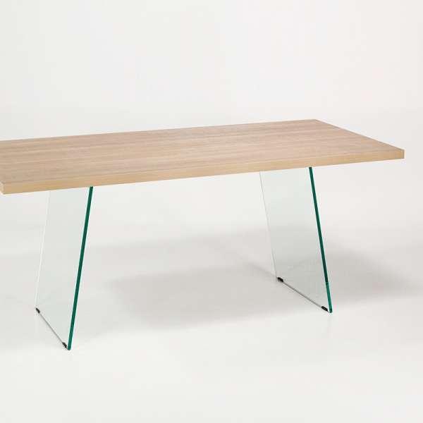 Table en stratifié avec pieds en verre - Domo  - 5