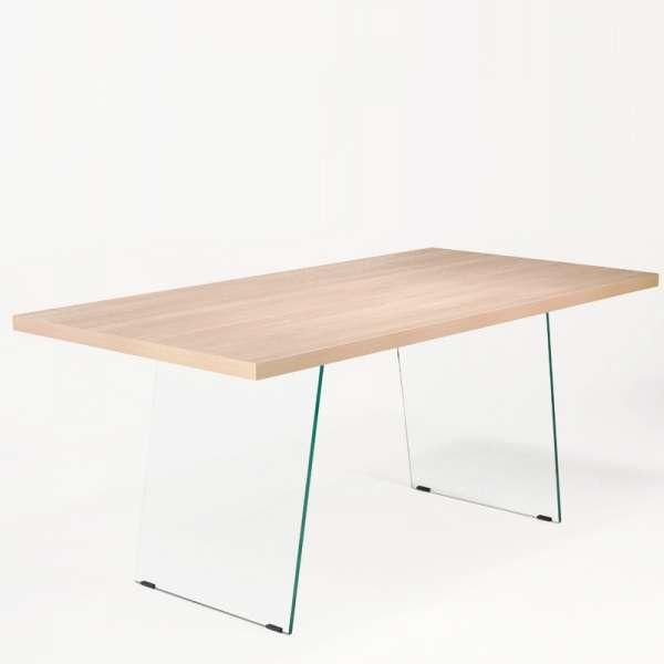 Table design avec pieds en verre - Domo  - 2