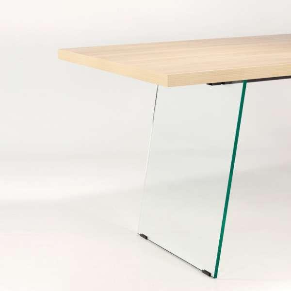 Table de salle à manger design en stratifié avec pieds en verre - Domo  - 7