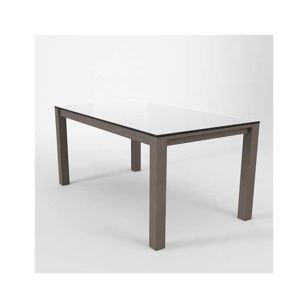 Table en verre extensible blanche - Table Quadra - 5