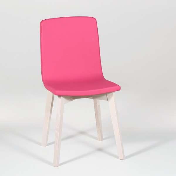 Chaise design en bois et tissu PVC - Eclipse confort 5 - 3