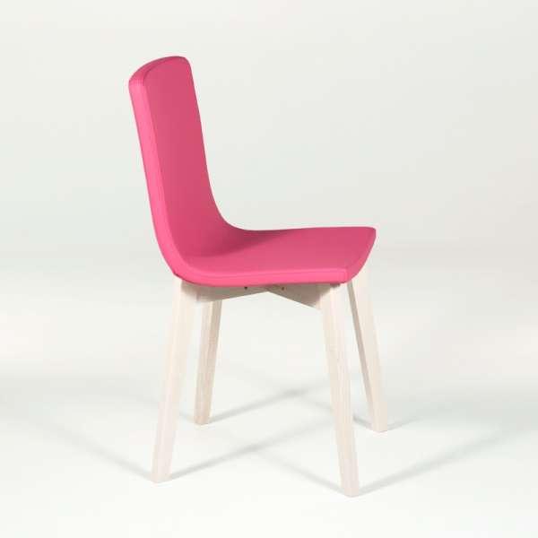 Chaise design en bois et tissu PVC - Eclipse confort 6 - 4