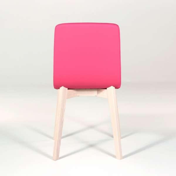 Chaise design en bois et tissu PVC - Eclipse confort 7 - 5