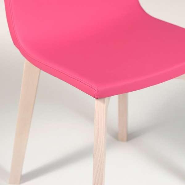 Chaise design en bois et tissu PVC - Eclipse confort 9 - 7