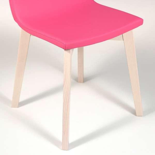 Chaise design en bois et tissu PVC - Eclipse confort 10 - 8