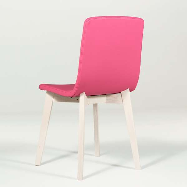 Chaise design en bois et tissu PVC - Eclipse confort 11 - 9