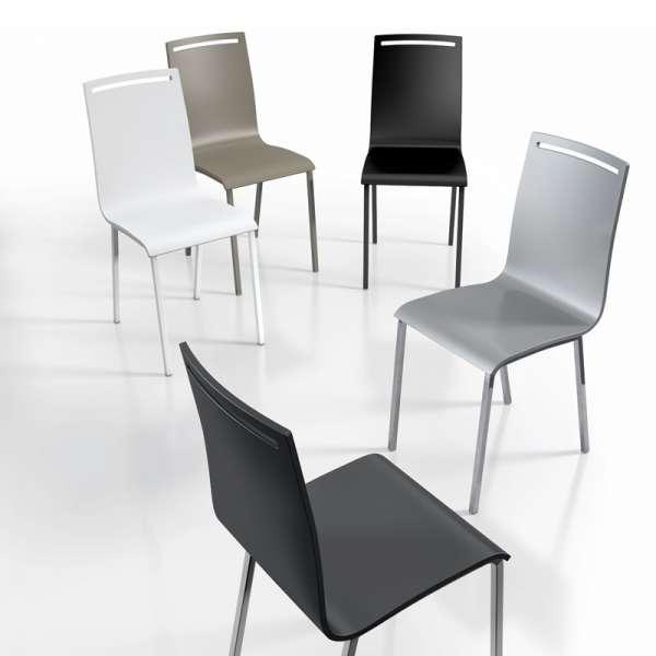 Chaise moderne en métal et bois laqué - Nera 2 - 2