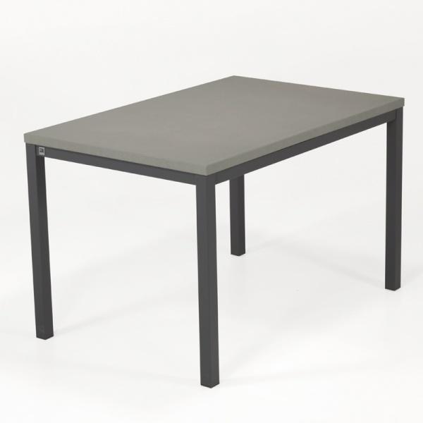 Table de cuisine avec rallonge en céramique - hauteur 75 cm - Toy métal - 4