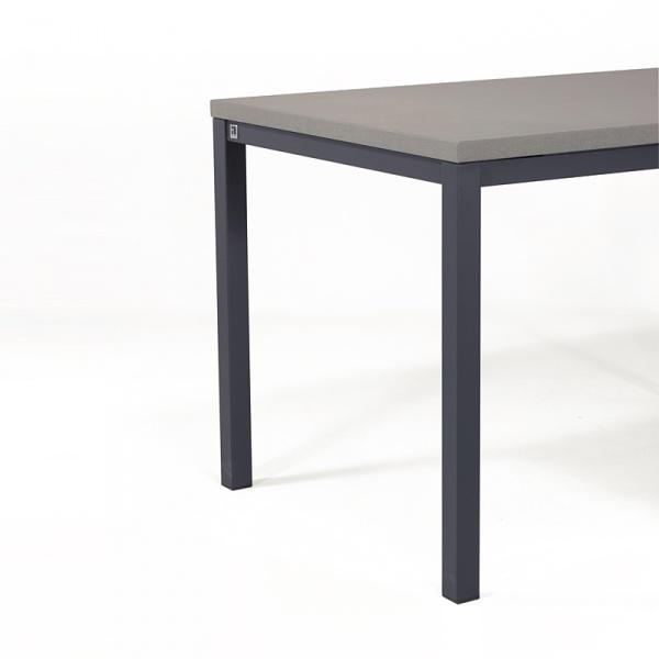 Table de cuisine avec rallonge en céramique - hauteur 75 cm - Toy métal 5 - 8