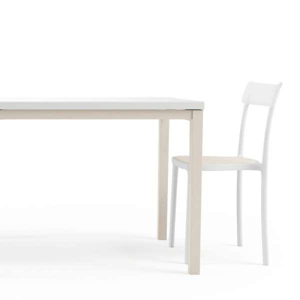 Table de cuisine avec rallonge en verre - Toy bois 2 - 3