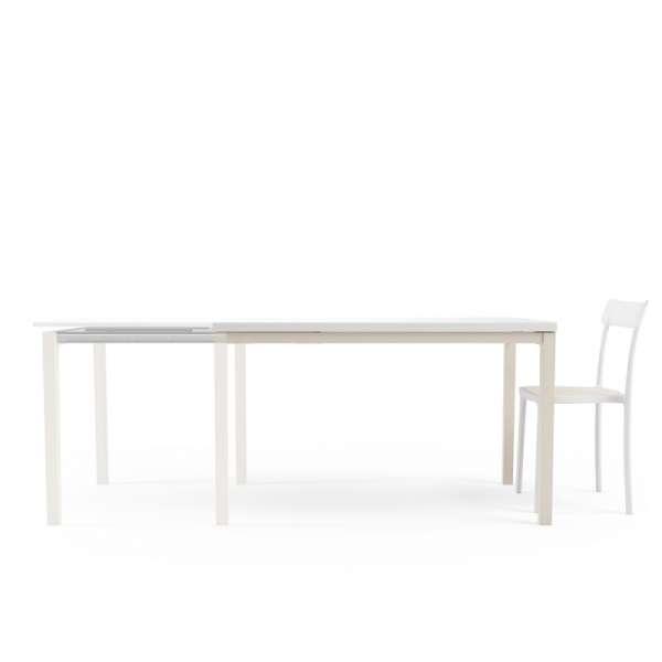 Table de cuisine avec rallonge en verre - Toy bois - 2