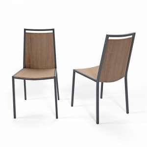 Chaise de cuisine en métal et bois Concept 4