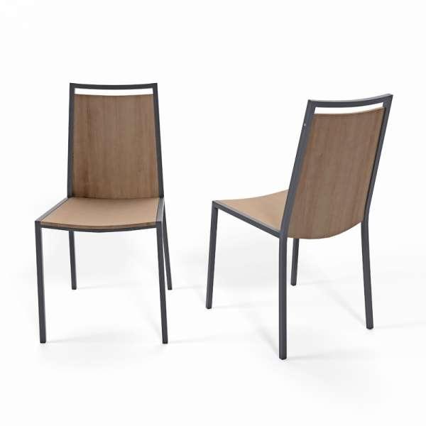 Chaise de cuisine en métal et bois Concept 4 - 1