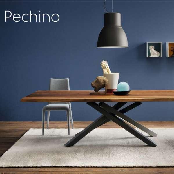 Table design en bois structure mikado en métal - Pechino Midj® - 4