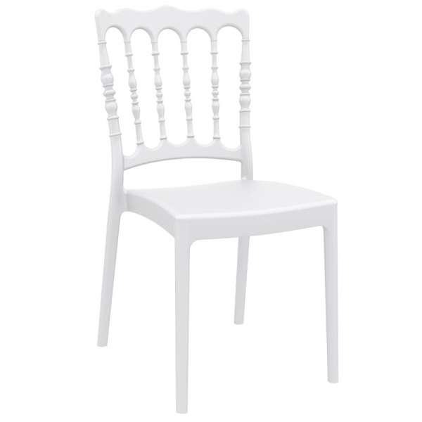 Chaise blanche Napoléon III en polypropylène - Napoléon - 7