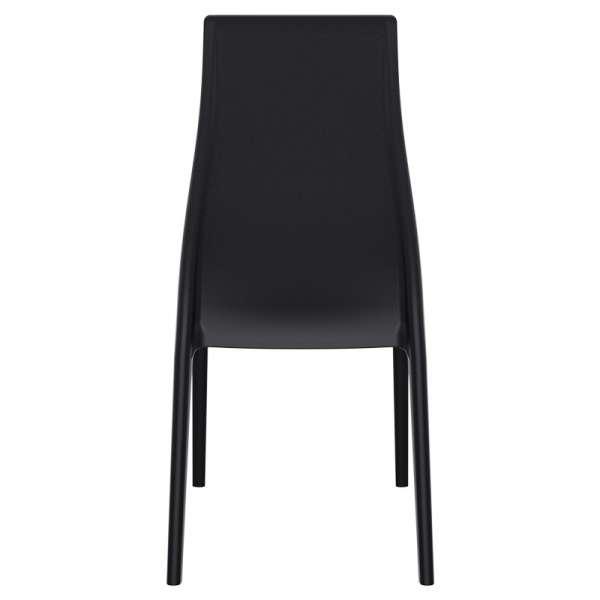 Chaise en polypropylène noir - Miranda 4 - 15