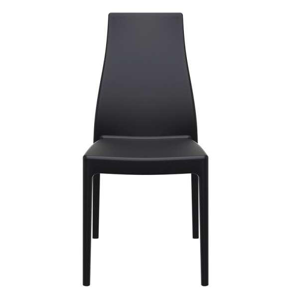 Chaise en polypropylène noir - Miranda 5 - 16