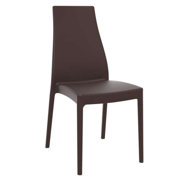 Chaise en polypropylène marron - Miranda - 17