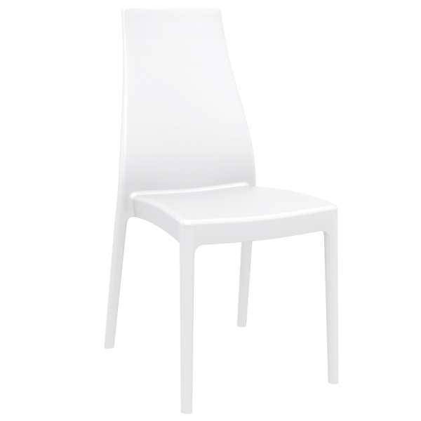 Chaise en polypropylène blanc - Miranda - 20