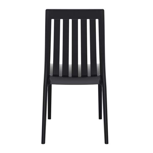 Chaise moderne en polypropylène noir - Soho 4 - 11