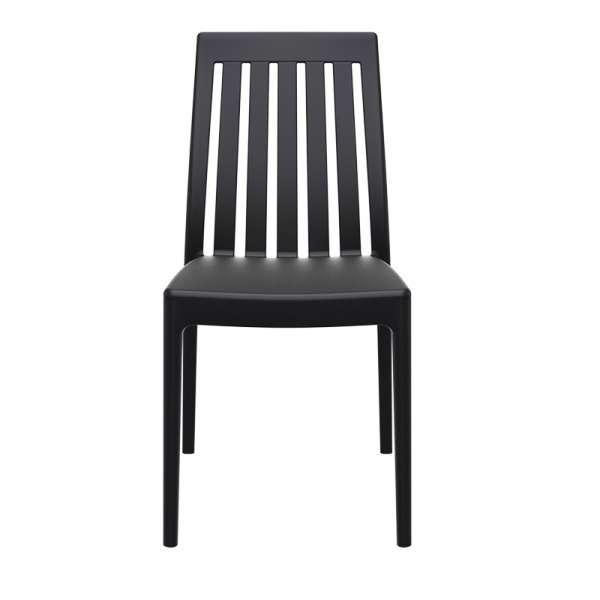Chaise moderne en polypropylène noir - Soho 5 - 12