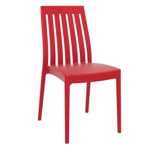 Chaise moderne en polypropylène rouge - Soho - 4