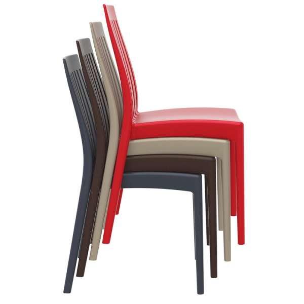 Chaise moderne en polypropylène empilable - Soho - 13