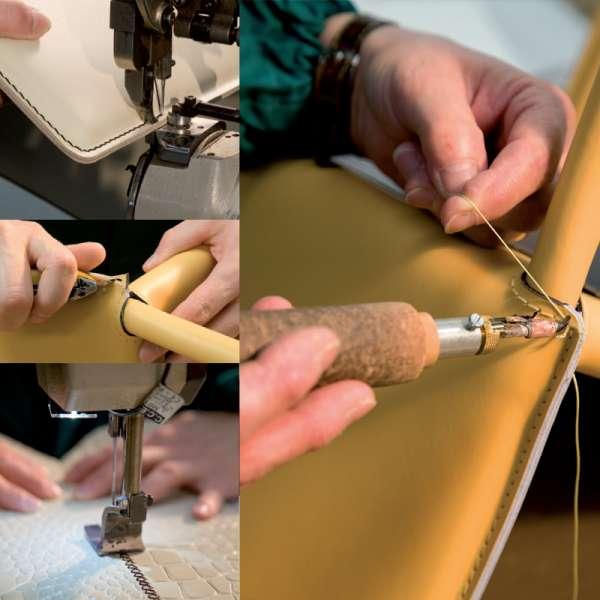 Chaise de salle à manger en croûte de cuir - Cathy 2 - 2