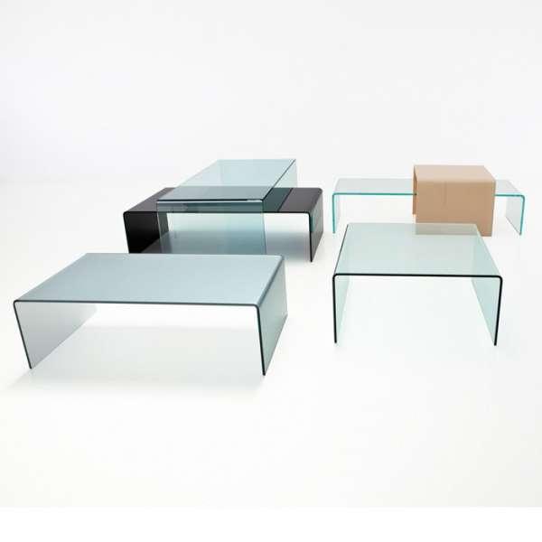 Table basse design carrée en verre - Bridge Sovet®  2 - 2