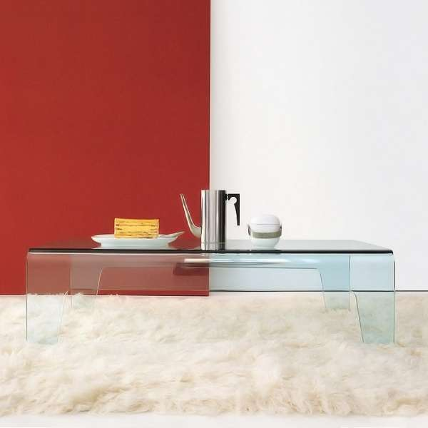 Table basse design rectangulaire ou carrée en verre - Frog Sovet® - 5