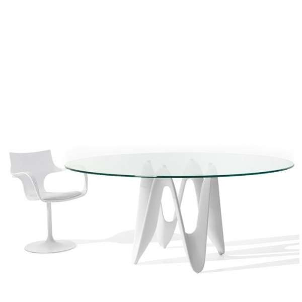 Table ovale design en verre - Lambda Sovet® 2 - 2