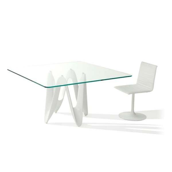 Table en verre design carrée 140 x 140 cm - Lambda Sovet® - 4