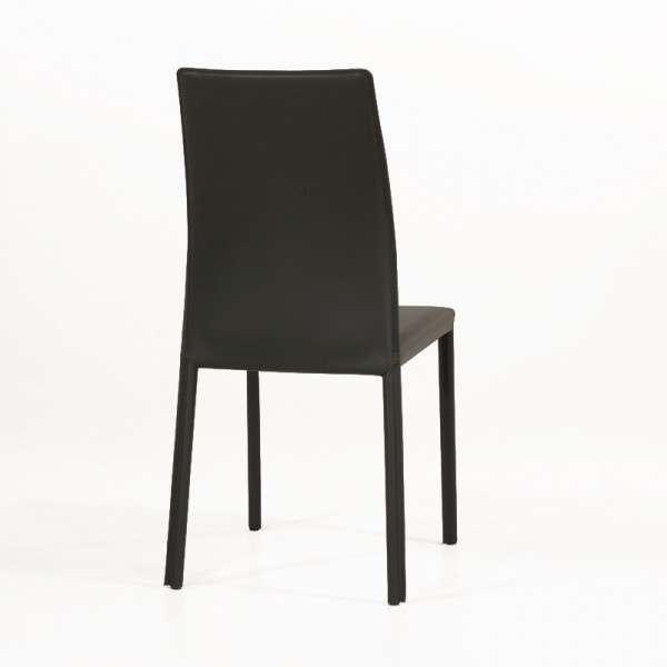 Chaise de séjour en croûte de cuir - Giada - 6
